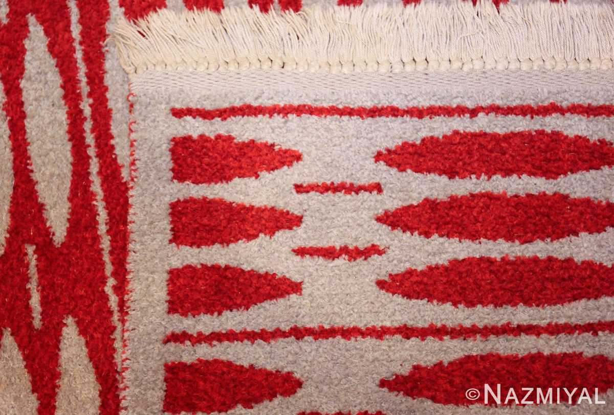 mid century vintage double sided swedish rug 47788 light weave Nazmiyal