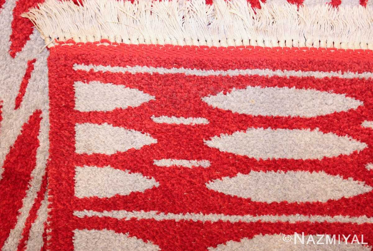 mid century vintage double sided swedish rug 47788 weave Nazmiyal