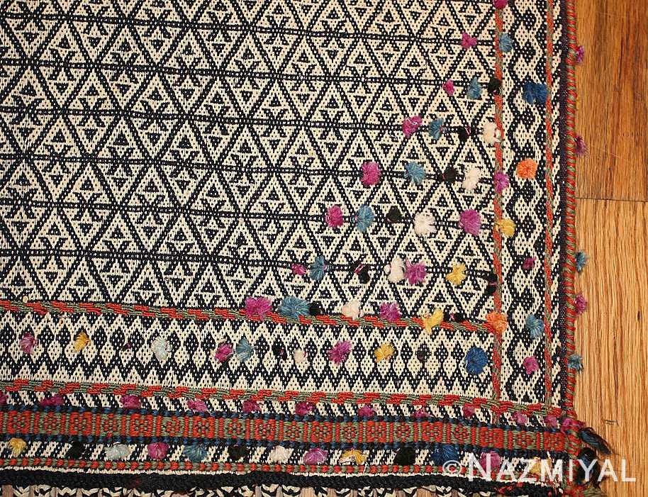 rare antique persian qashqai horse cover 47879 corner Nazmiyal