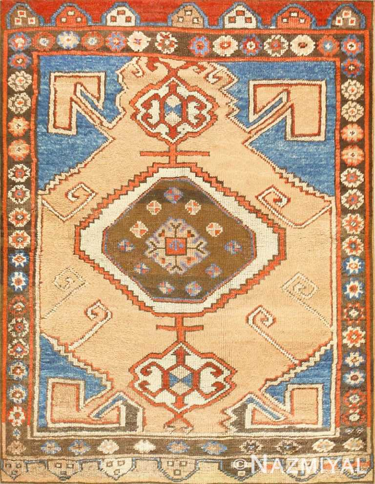 Tribal Antique Turkish Karapinar Rug 47393 Nazmiyal