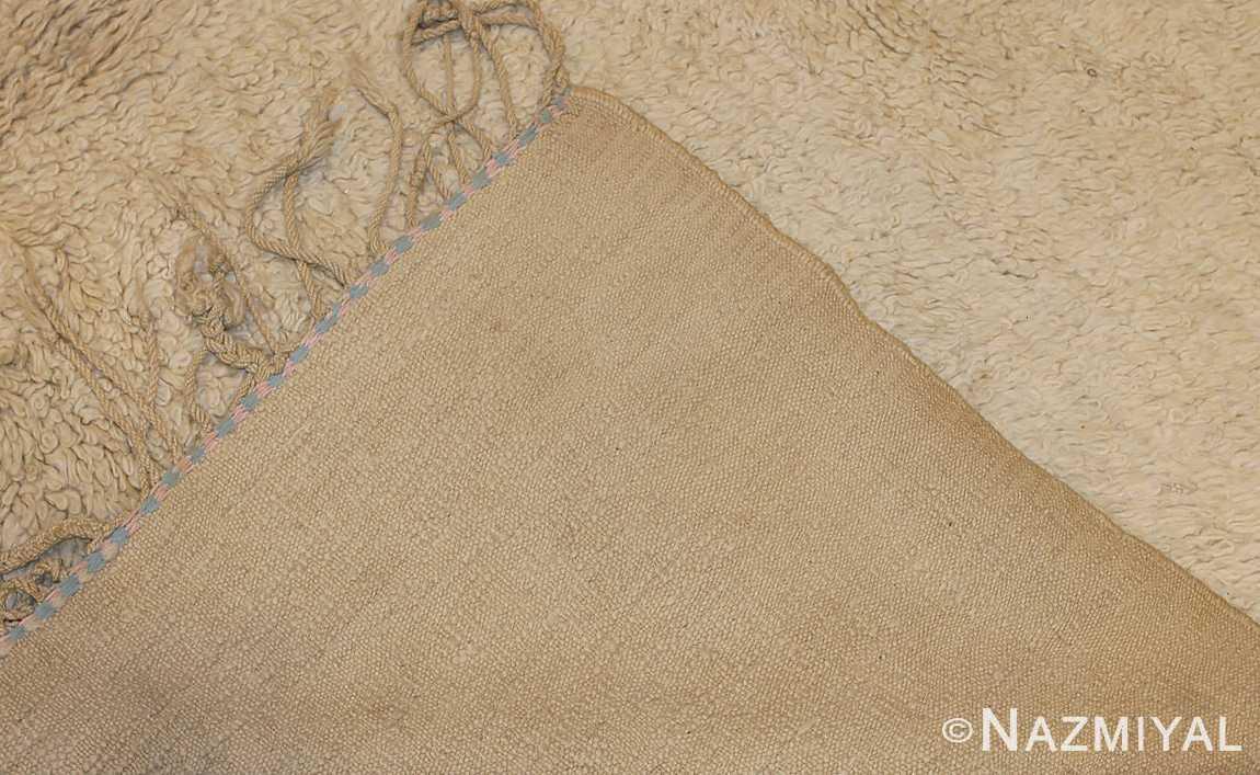vintage ivory moroccan beni ourain rug 47908 weave Nazmiyal