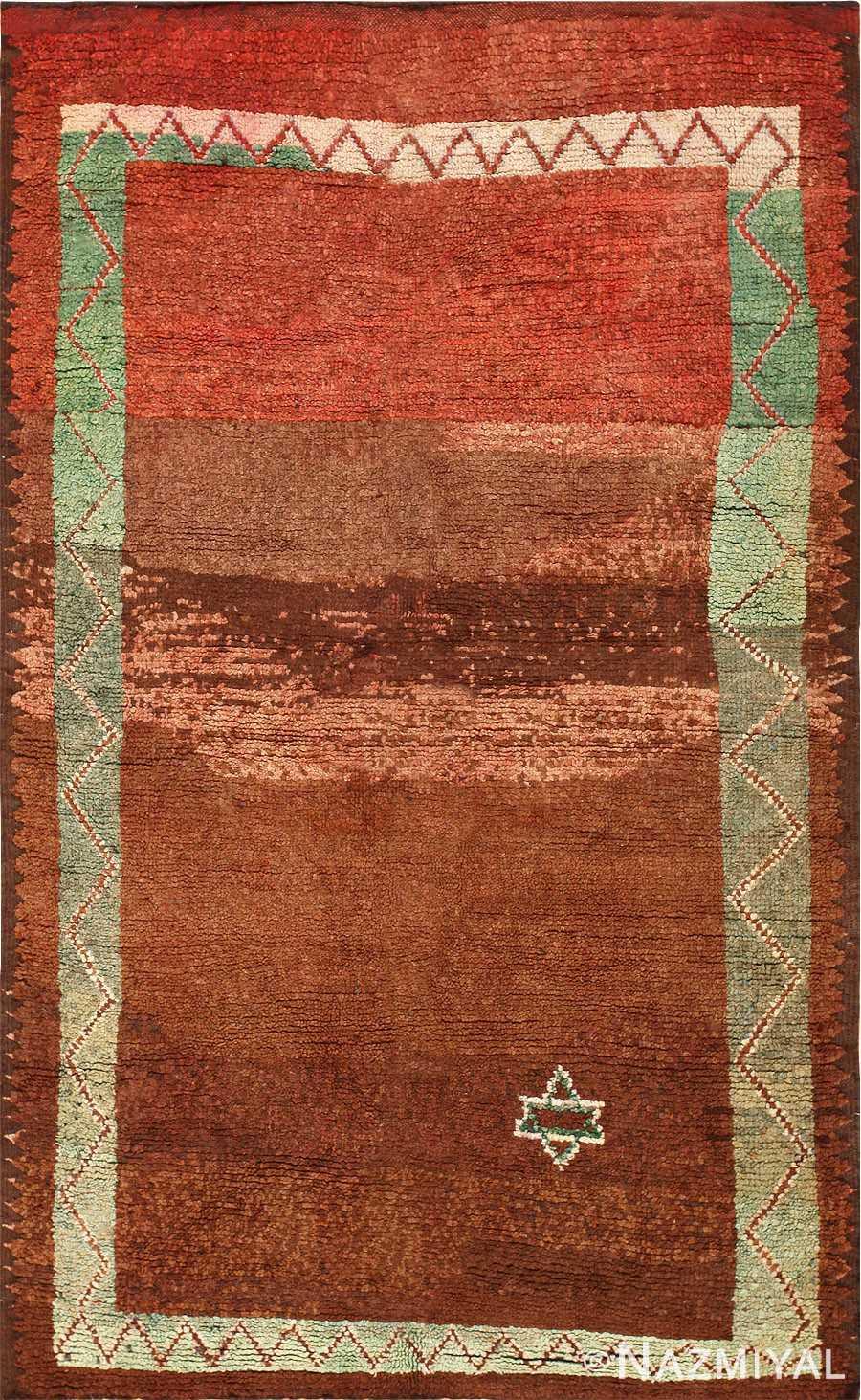Vintage Judaica Moroccan Rug 47913 Detail/Large View
