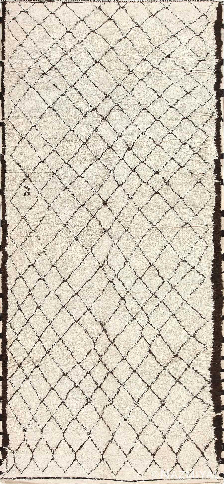 Vintage Moroccan Carpet 47934 Detail/Large View