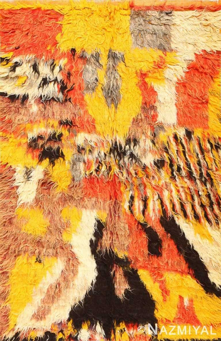 Vintage Moroccan Shag Rug 47912 Detail/Large View