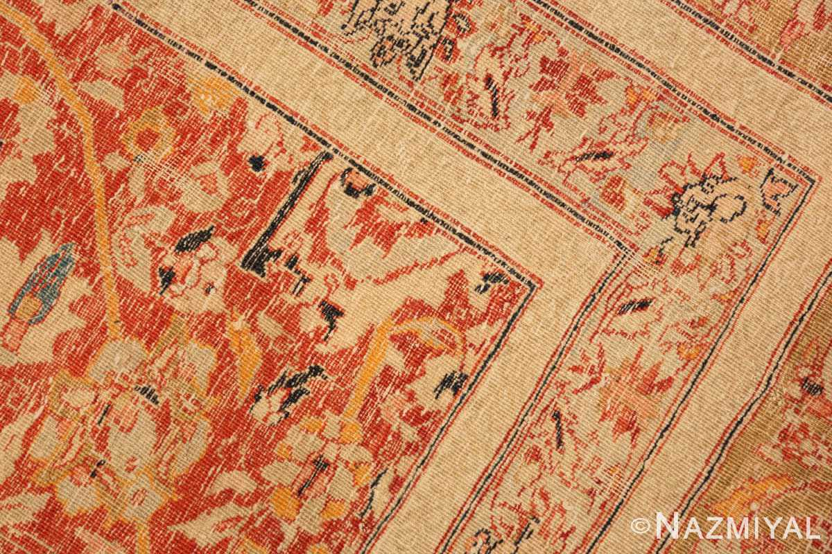 Weave detail Antique Persian Tabriz rug 47574 by Nazmiyal