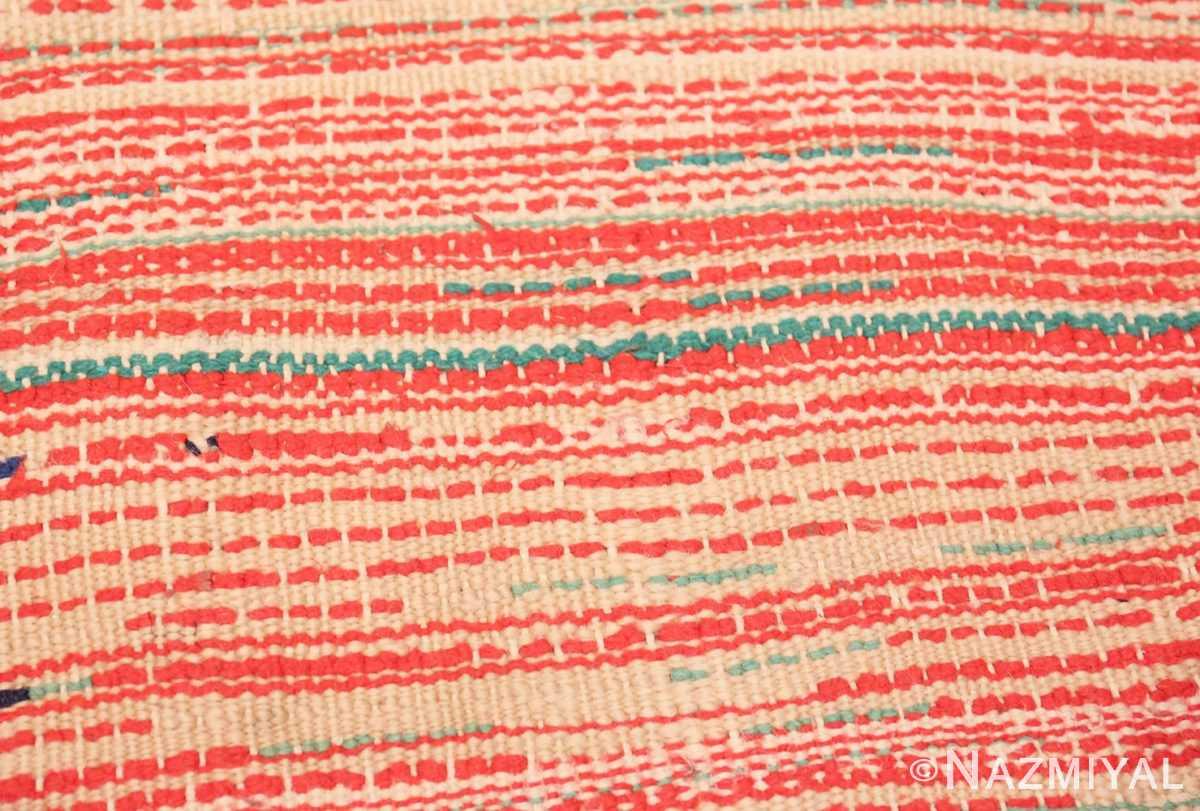 Weave detail Vintage Moroccan Berber rug 47949 by Nazmiyal