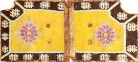 Antique Chinese Saddle Rug 47784 Detail/Large View