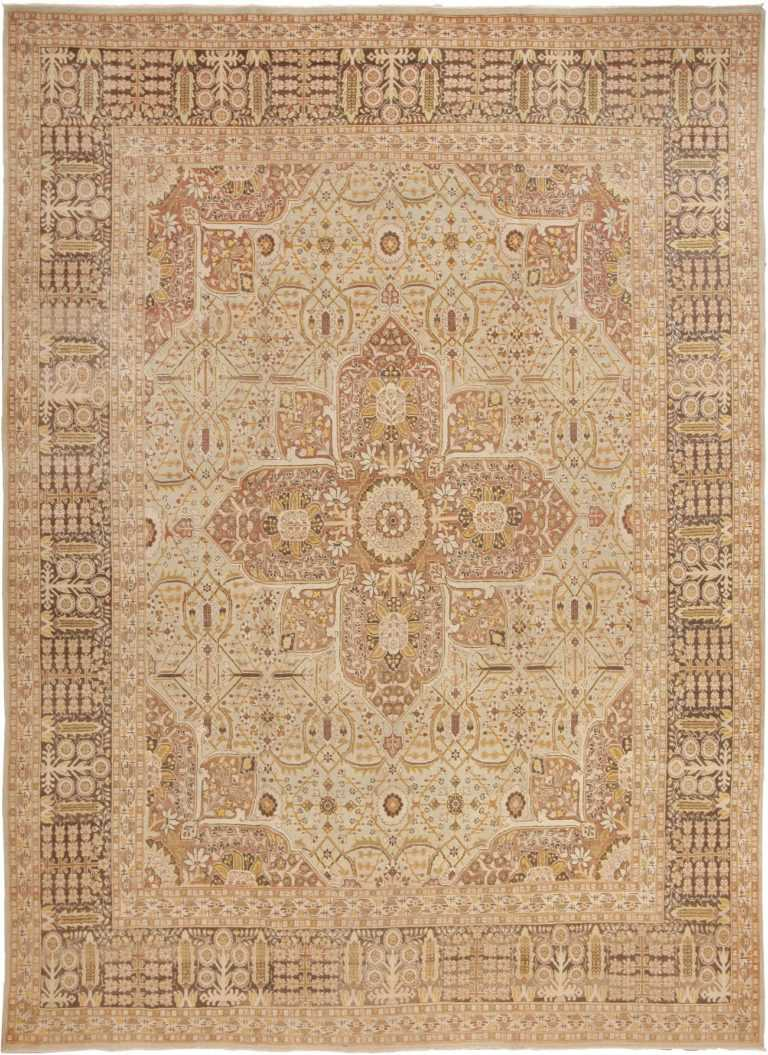 Antique Persian Tabriz Rug 41744 Detail/Large View