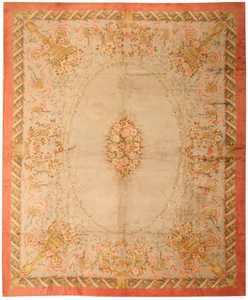 Antique Savonnerie Spanish Carpet 3253 Nazmiyal
