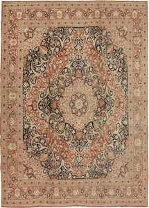 Antique Tabriz Persian Carpets 40776 Nazmiyal