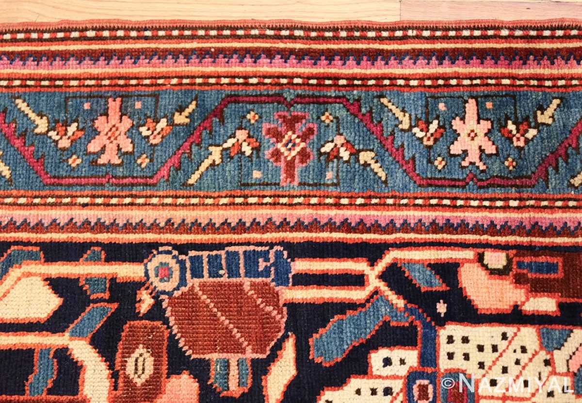 antique caucasian karabagh rug 47981 border Nazmiyal