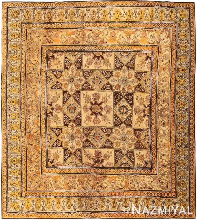 Antique Indian Agra Rug 3291 Detail/Large View