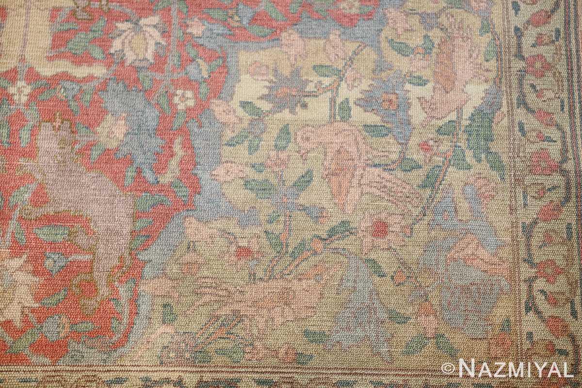 antique israeli bezalel rug 47463 bird Nazmiyal