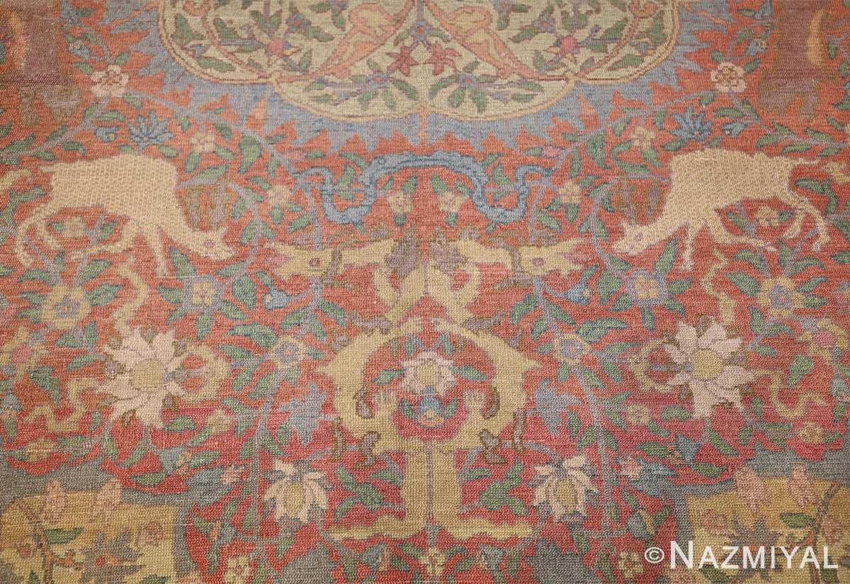 antique israeli bezalel rug 47463 camel Nazmiyal