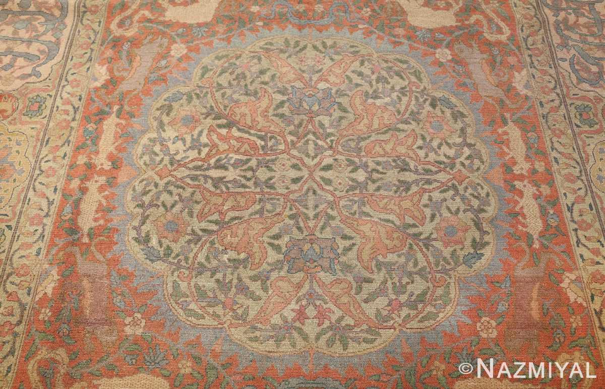 antique israeli bezalel rug 47463 field Nazmiyal