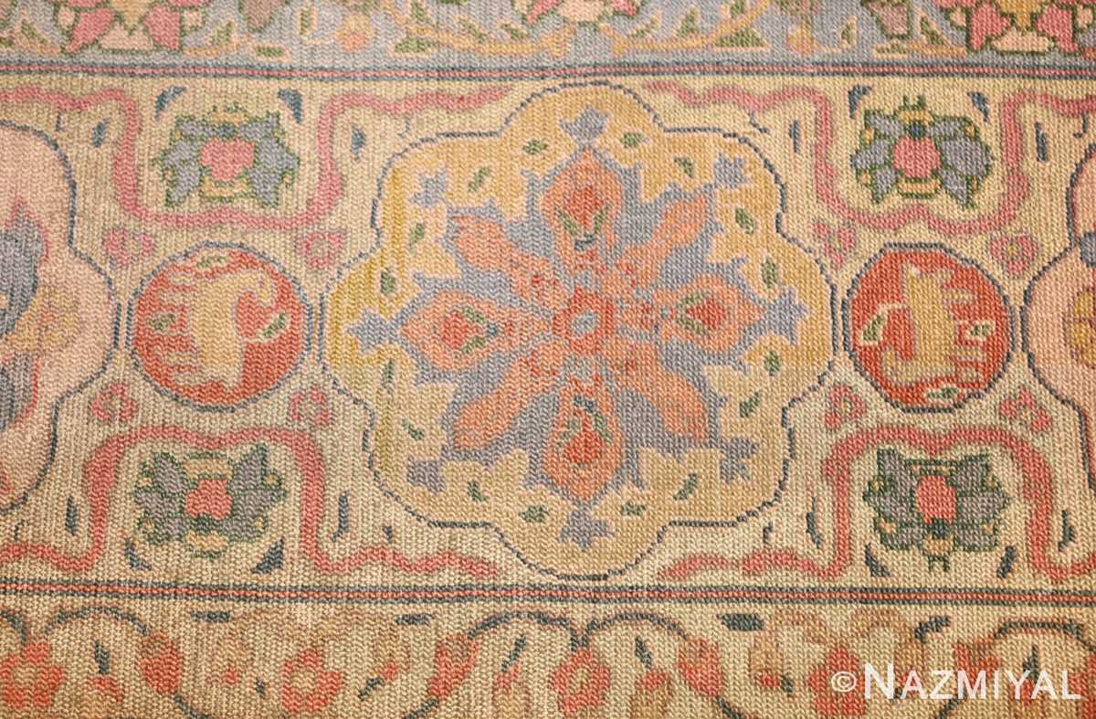 antique israeli bezalel rug 47463 flower Nazmiyal