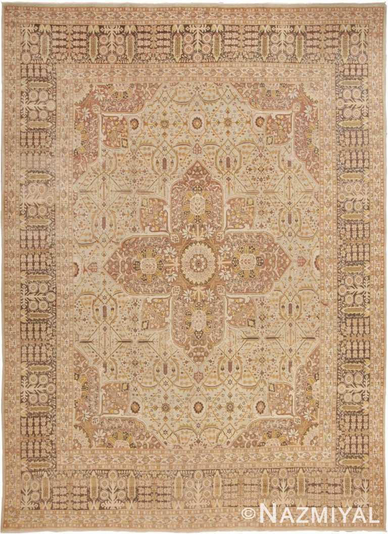 Fine Classic Room Size Antique Persian Tabriz Rug #41744 by Nazmiyal Antique Rugs