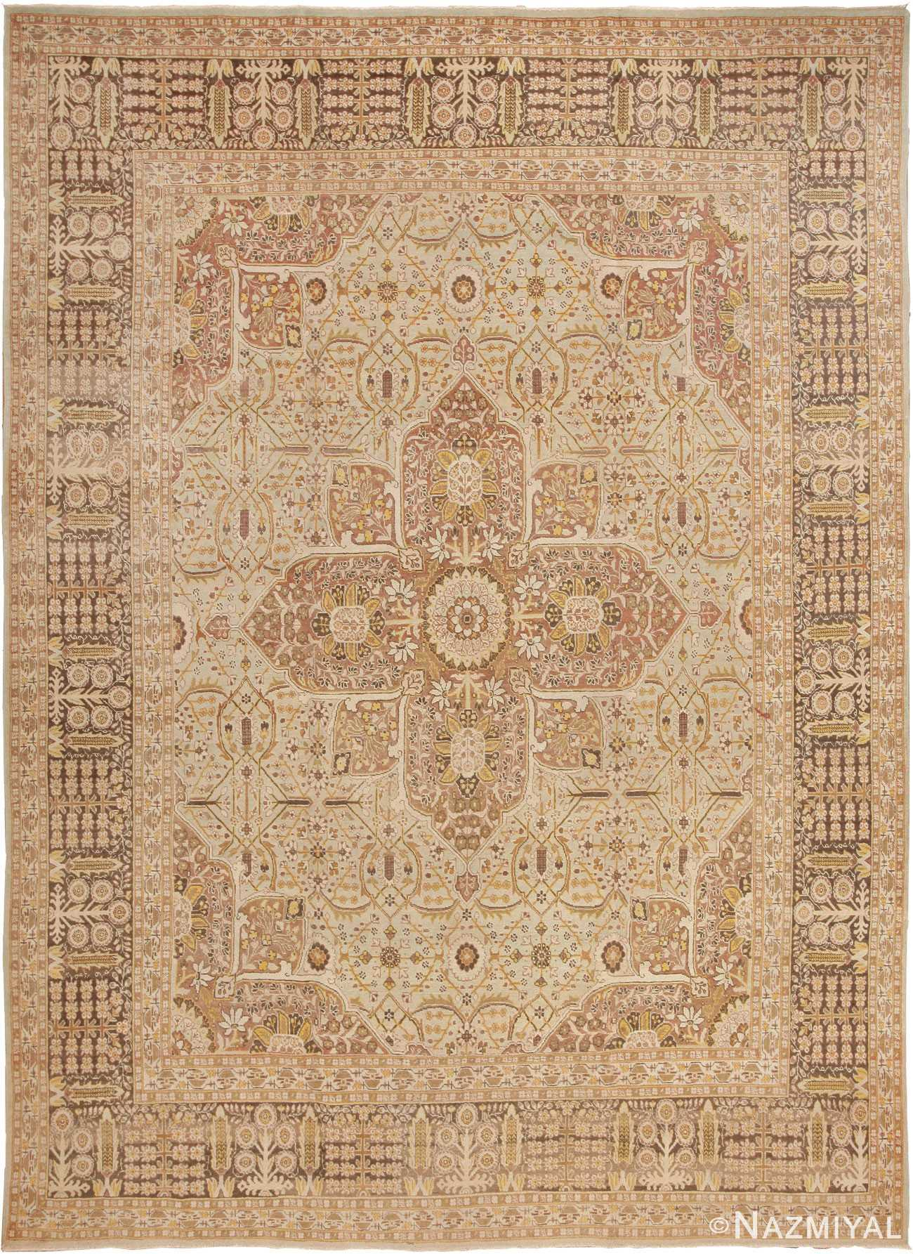 Antique Persian Tabriz Rug 41744 Detail/Large View