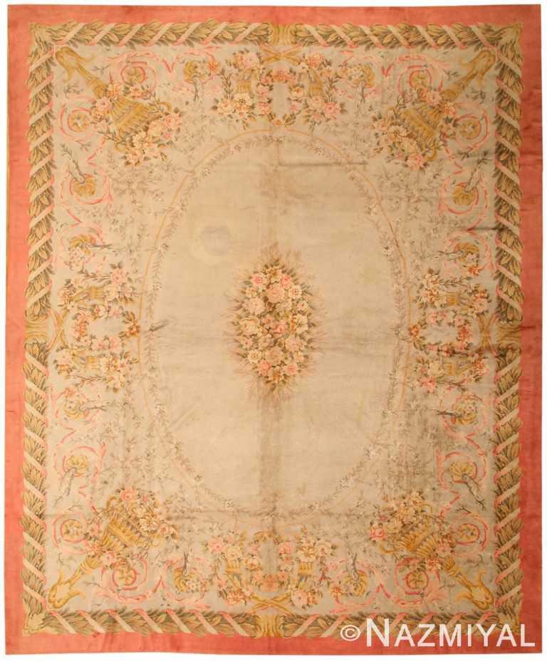 Antique Savonnerie Spanish Carpet 3253 Nazmiyal