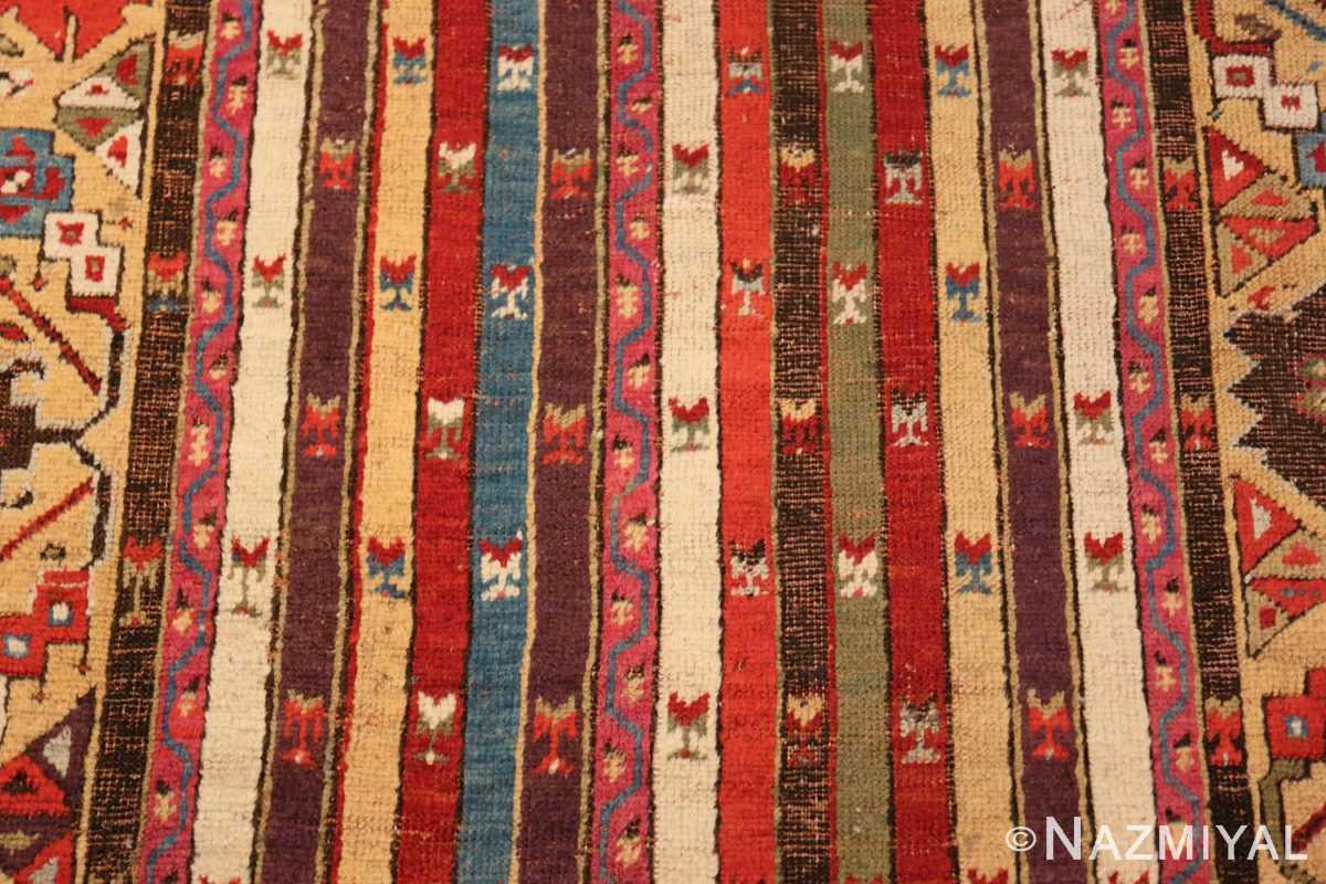 Background Antique Tribal Turkish Kirsehir runner rug 47496 by Nazmiyal