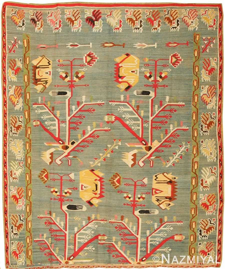Antique Romanian Bessarabian Kilim 43260