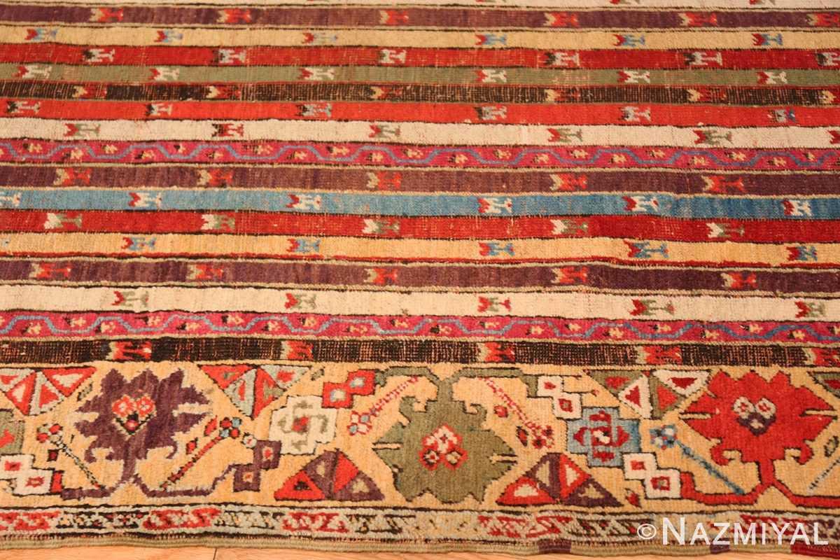 Border Antique Tribal Turkish Kirsehir runner rug 47496 by Nazmiyal