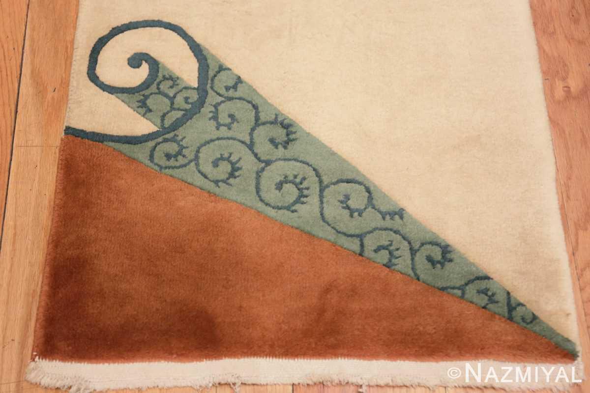 Border Vintage Chinese deco rug 46916 by Nazmiyal