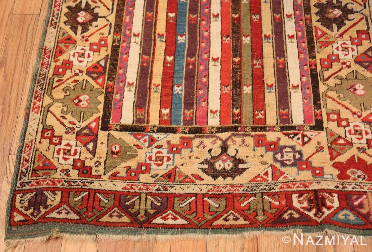 Corner Antique Tribal Turkish Kirsehir runner rug 47496 by Nazmiyal