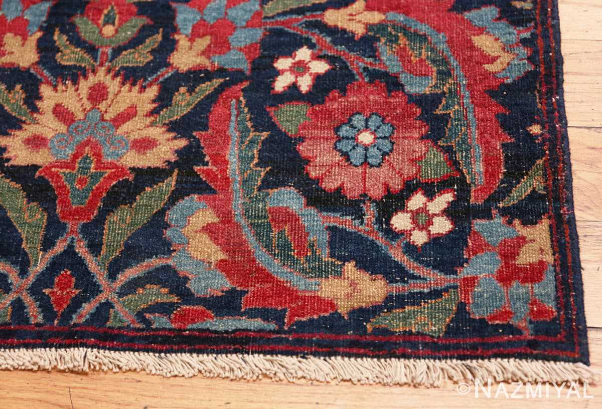 Corner Small Square scatter size Antique Persian Kerman rug 47984 by Nazmiyal