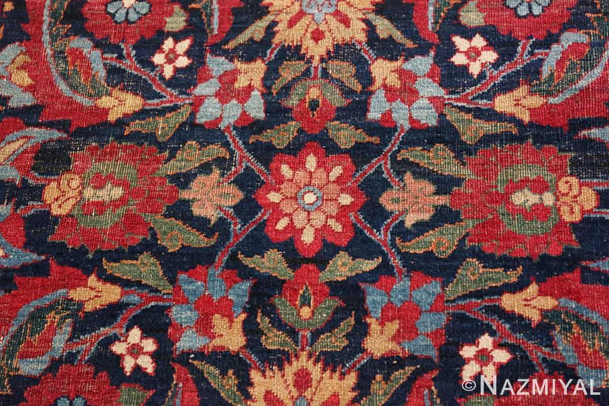 Detail Small Antique Persian Kerman rug 47983 by Nazmiyal