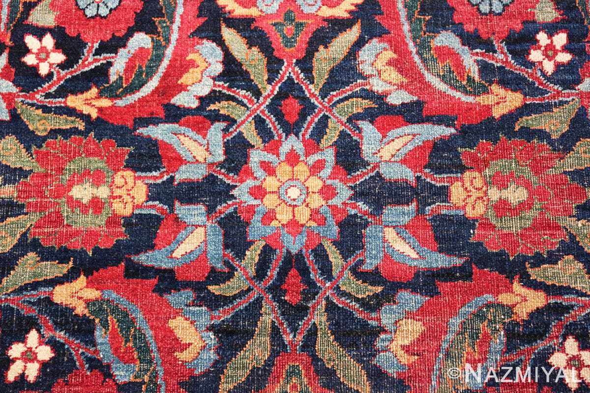 Detail Antique Persian Kerman rug 47985 by Nazmiyal