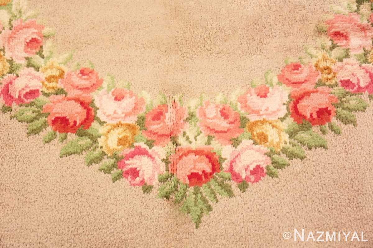 Flower detail Antique Spanish Savonnerie rug 47786 by Nazmiyal
