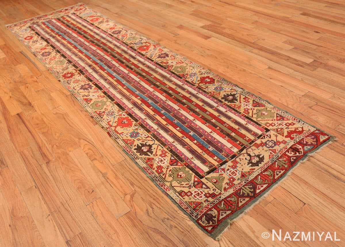 Full Antique Tribal Turkish Kirsehir runner rug 47496 by Nazmiyal