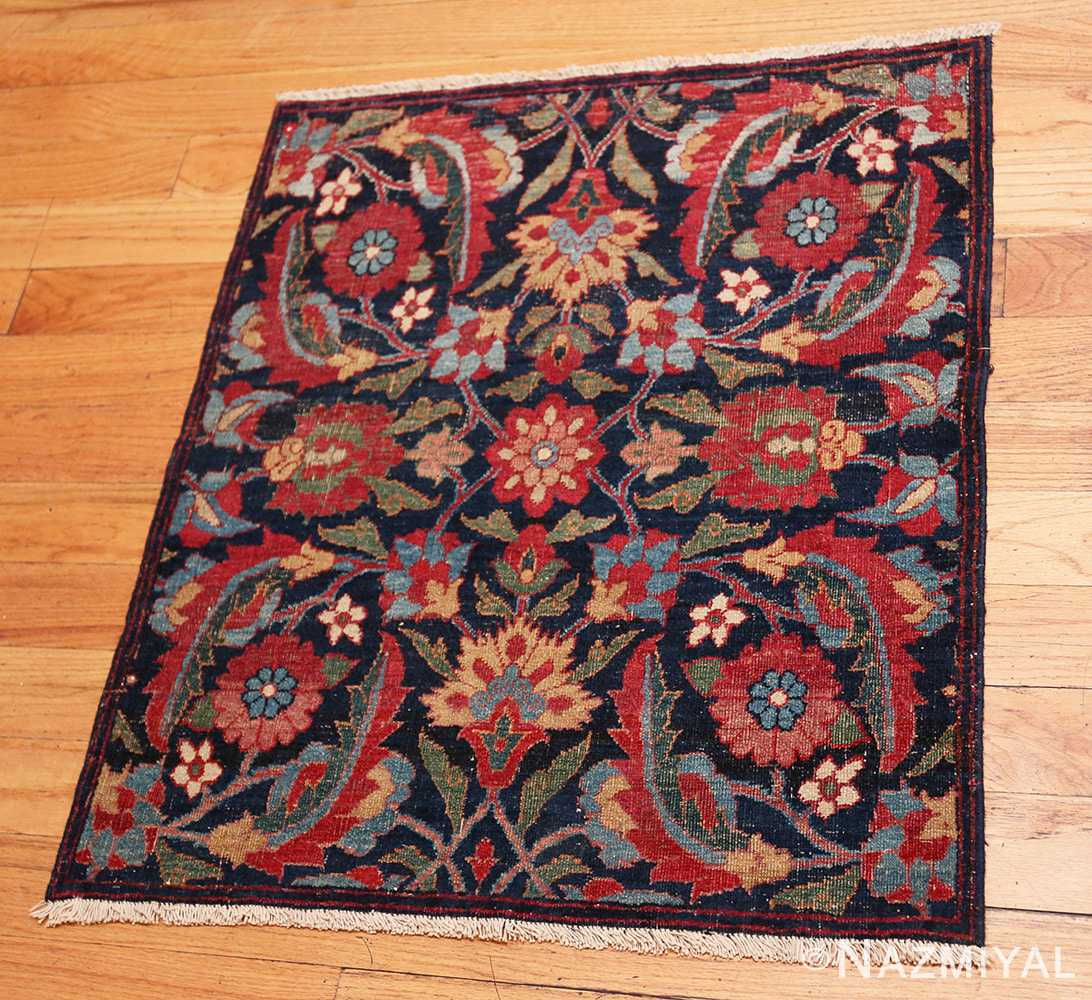 Full Small Square scatter size Antique Persian Kerman rug 47984 by Nazmiyal