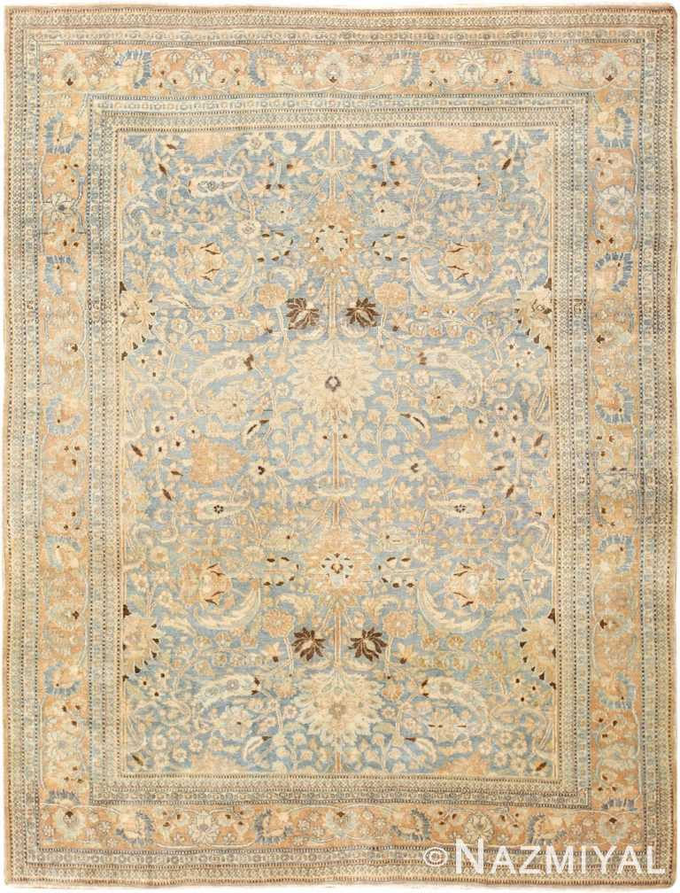 Light Blue Antique Persian Khorassan Rug 47647 Nazmiyal