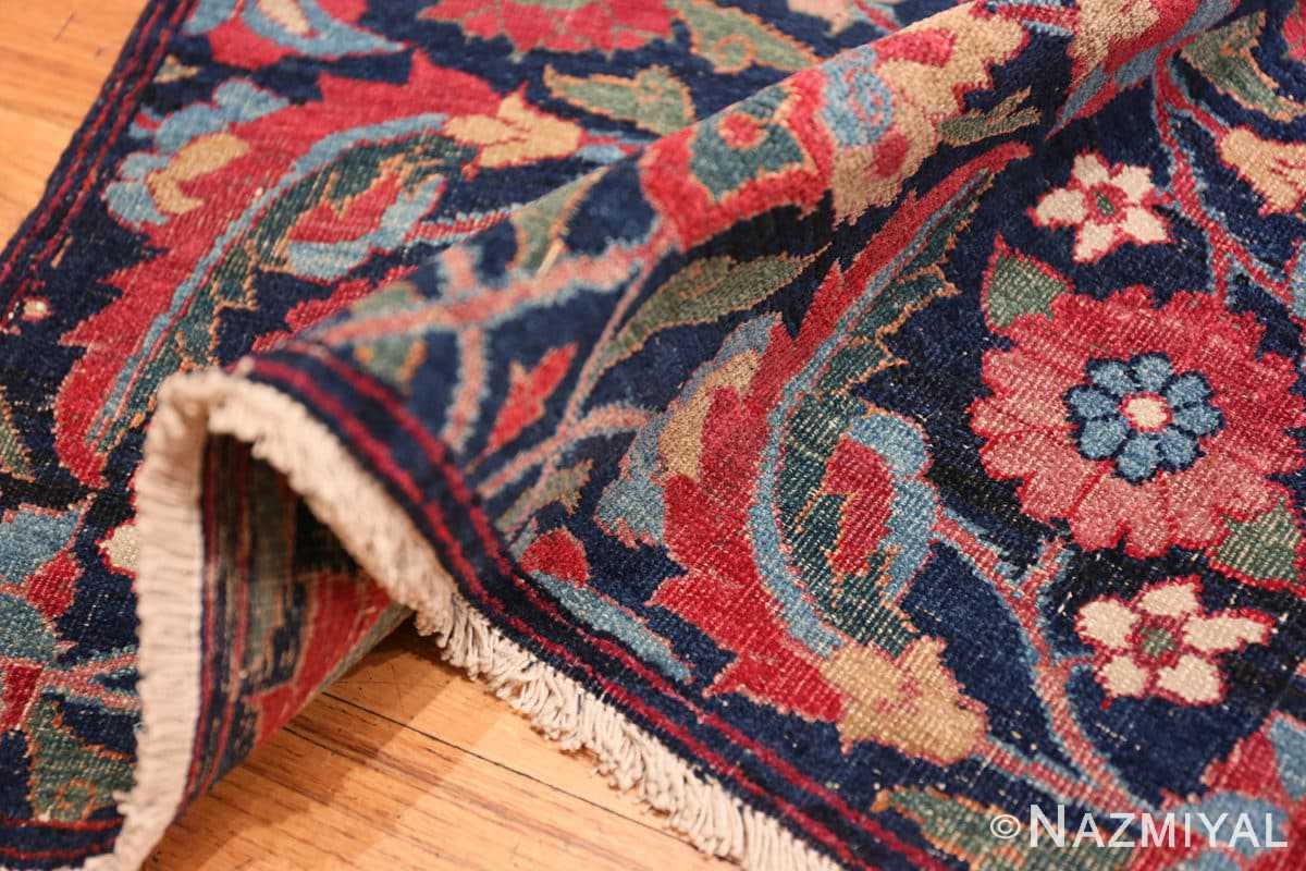 Pile Small Square scatter size Antique Persian Kerman rug 47984 by Nazmiyal