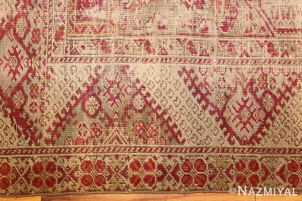 shabby chic antique turkish ghiordes rug 47594 border Nazmiyal