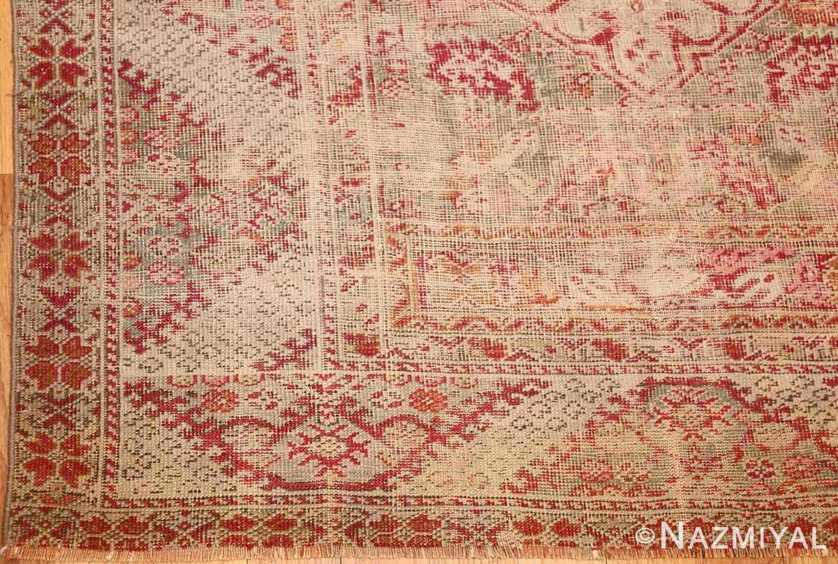 shabby chic antique turkish ghiordes rug 47594 corner Nazmiyal