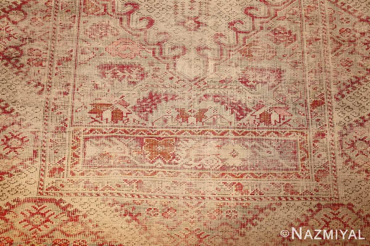 shabby chic antique turkish ghiordes rug 47594 down Nazmiyal