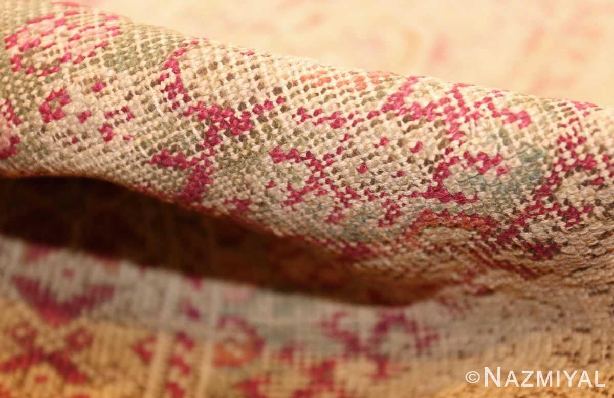 shabby chic antique turkish ghiordes rug 47594 pile Nazmiyal