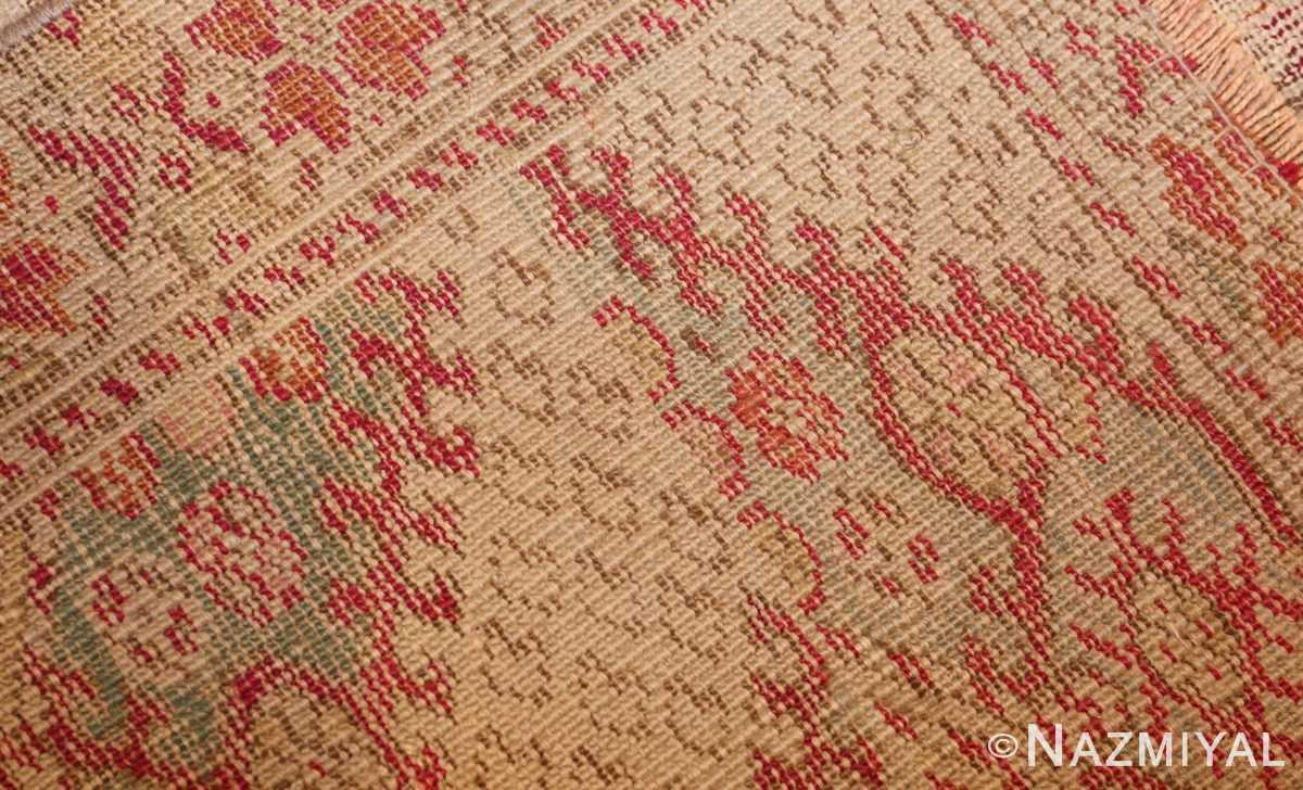shabby chic antique turkish ghiordes rug 47594 weave Nazmiyal