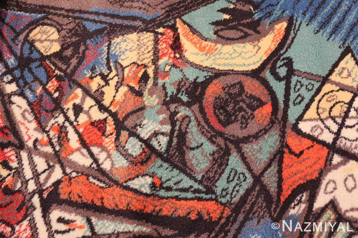vintage pablo picasso rug by ege 47991 crescent Nazmiyal