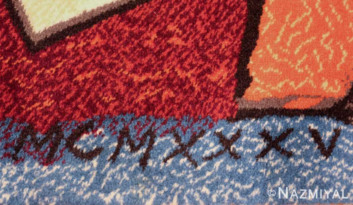 vintage pablo picasso rug by ege 47991 date Nazmiyal
