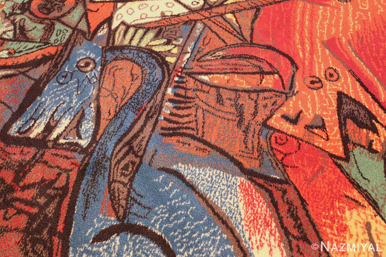 vintage pablo picasso rug by ege 47991 dragons Nazmiyal