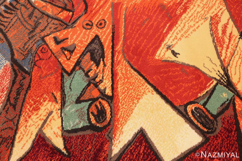 vintage pablo picasso rug by ege 47991 hooves Nazmiyal