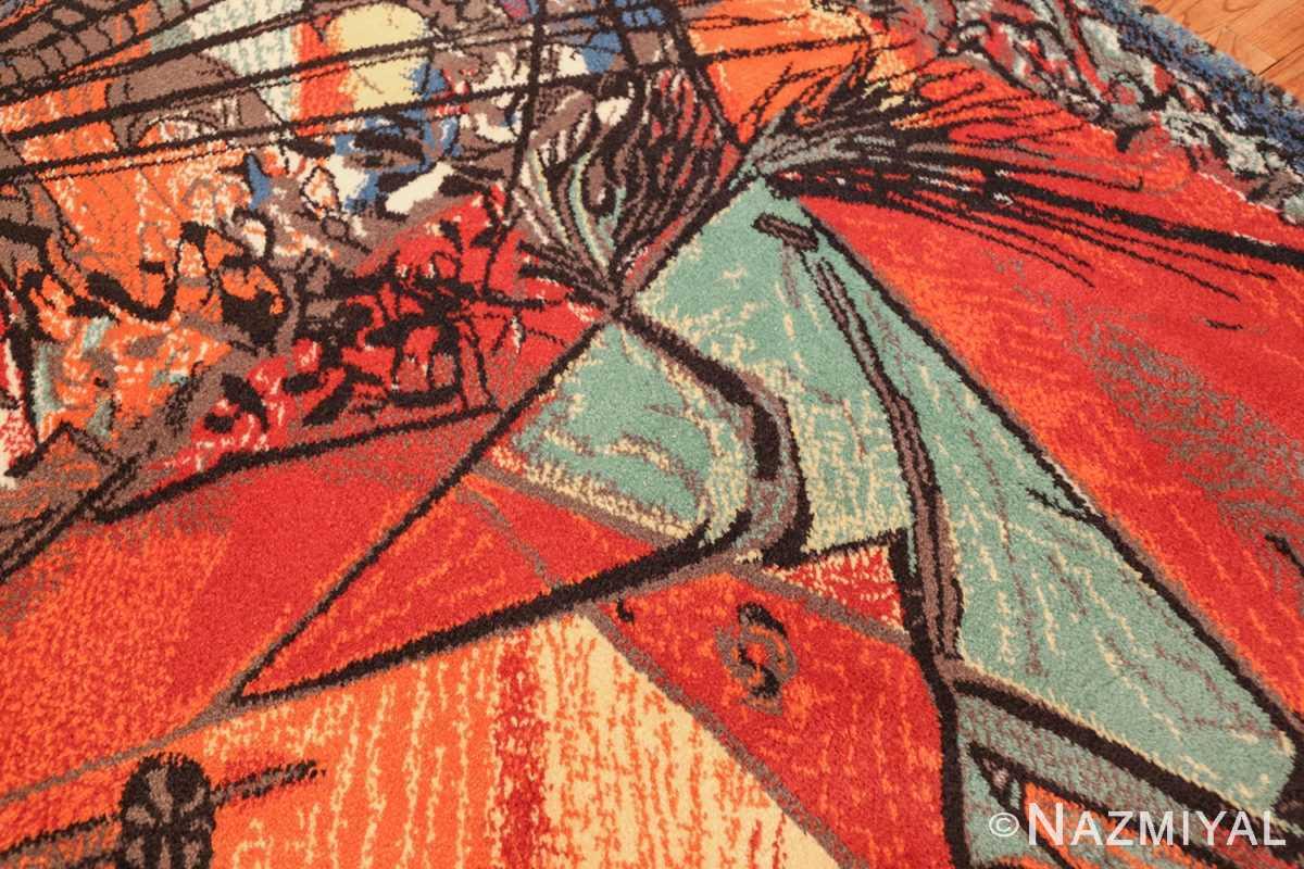 vintage pablo picasso rug by ege 47991 horse Nazmiyal