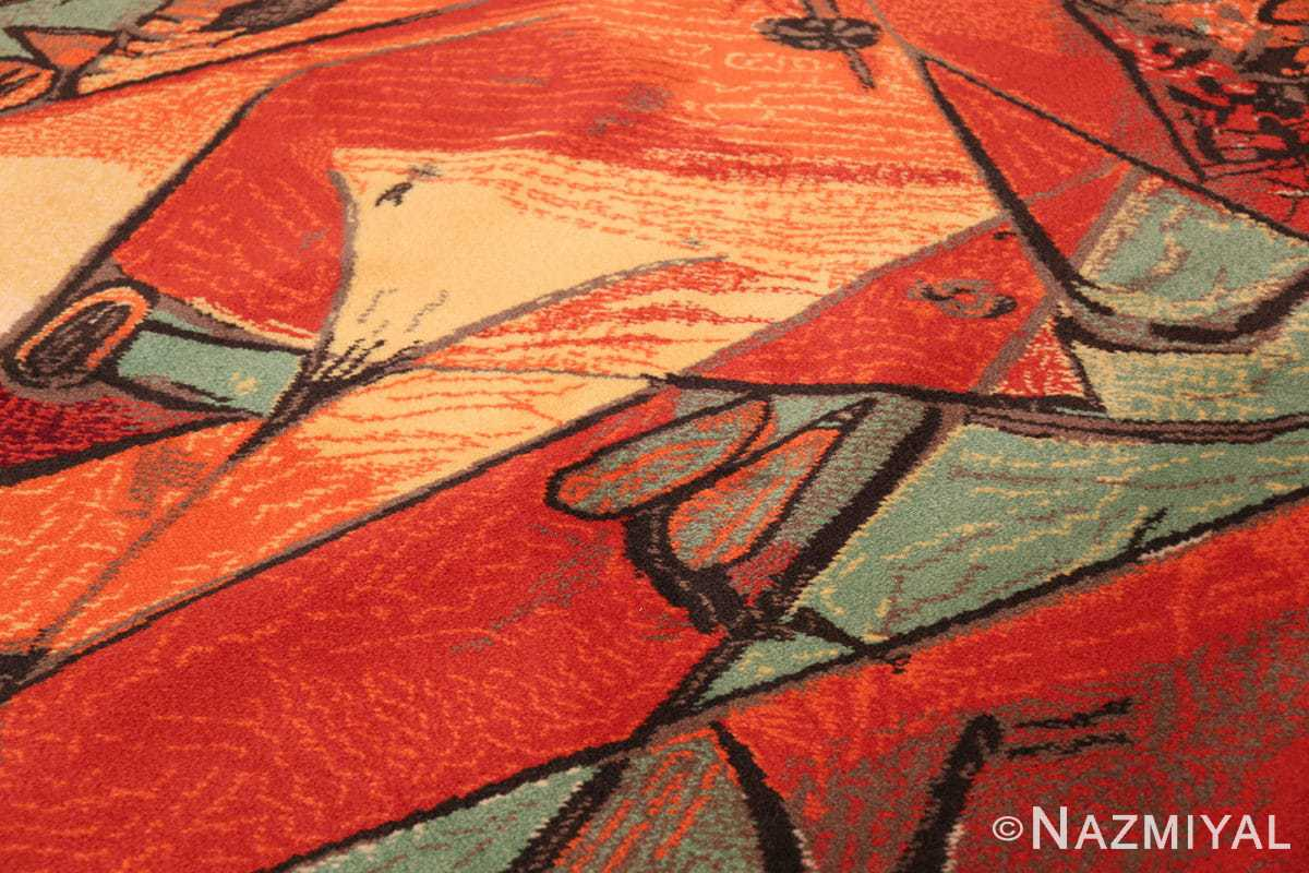 vintage pablo picasso rug by ege 47991 red Nazmiyal