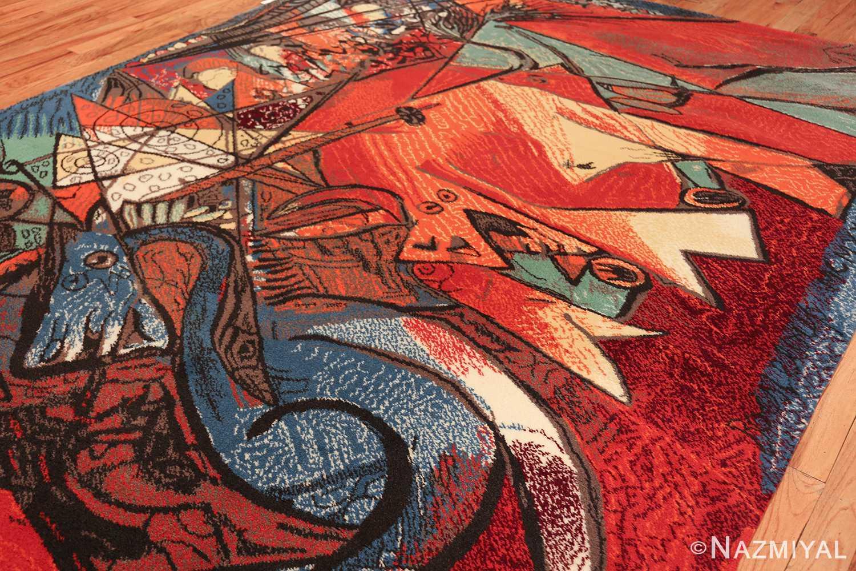 vintage pablo picasso rug by ege 47991 side Nazmiyal