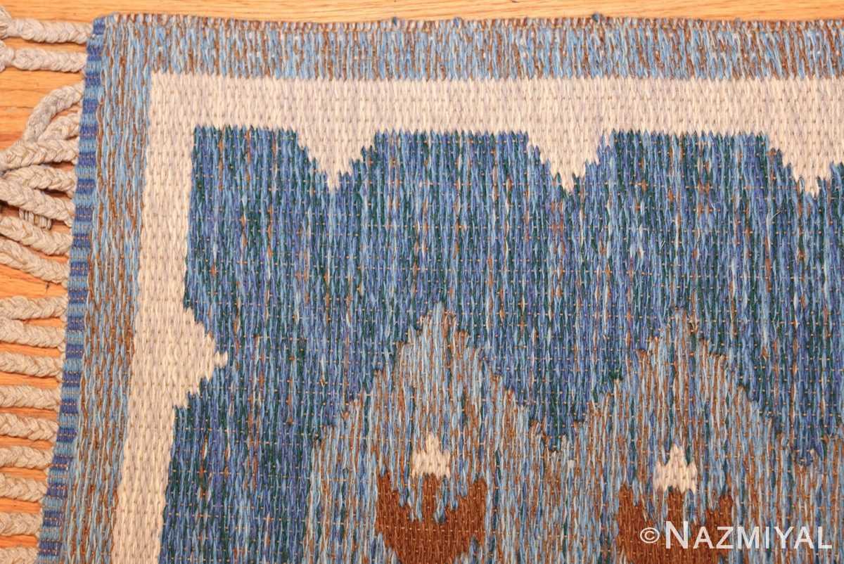 vintage swedish double sided rug 48008 corner Nazmiyal