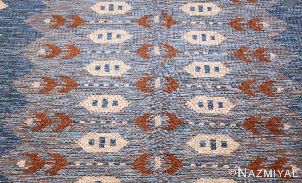 vintage swedish double sided rug 48008 field Nazmiyal